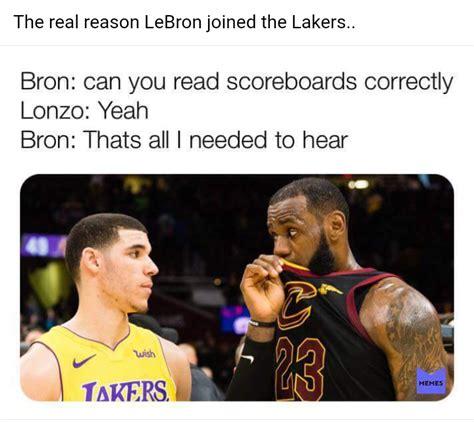 LeBron James, Lakers, Lonzo Ball, meme