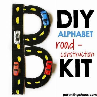 Alphabet Construction Diy Road Kit Parentingchaos Letter