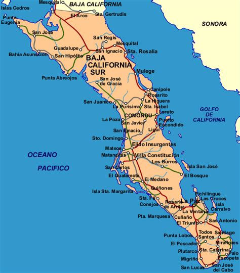 baja california sur map mexico mexican maps near beach party shootout cabos los carrying missing plane times paz eight dead