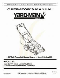 Mtd Yard Man 500 Series 21 Inch Self Propelled Rotary Lawn