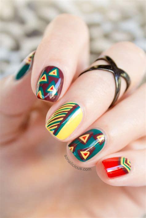 tribal nails  opi brazil