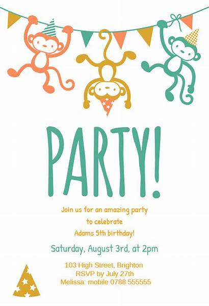Party Childrens Birthday Invitations Invitation Template Greetings