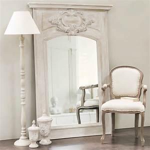 Maison Du Monde Miroir : miroir trumeau en bois gris h 180 cm garance maisons du monde ~ Teatrodelosmanantiales.com Idées de Décoration
