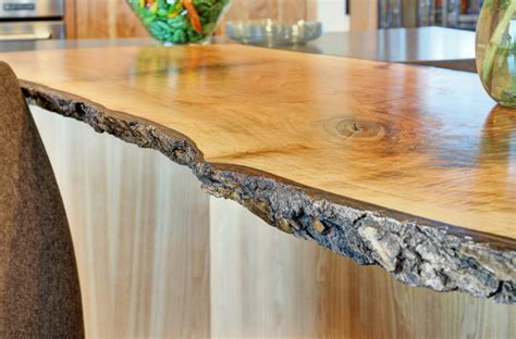 live edge wood countertops live wood edge island top contemporary kitchen san