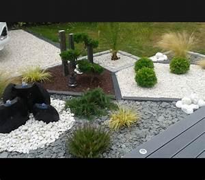 deco jardin avec gravier blanc nice maison design With deco de jardin avec caillou