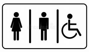 Toilette Toilette Symbol Vektor Abbildung  Illustration Von Kasten