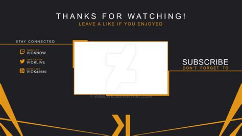 Outro Template Cool Overlay Transparent Pictures To Pin On