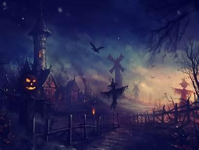 Halloween Wallpapers Desktop Backgrounds Resolution Village Scary