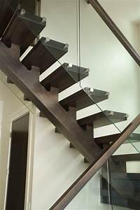 solid white oak mono-stringer - Contemporary - Staircase
