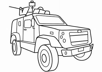 Coloring Army Military Pages Vehicle Vehicles Atv