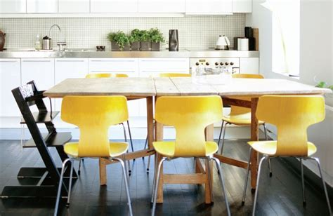43 yellow dining chairs   Interior Design Ideas.