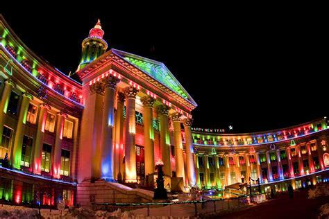 county building  denver  lit   holiday