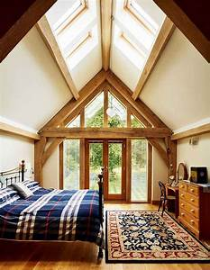 Lighting Ideas For Loft Ceilings Rooflights In The Vaulted Ceiling And A Glazed Gable End