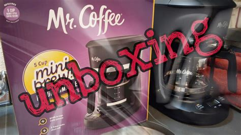 How to use acoffee maker. Mr. Coffee 5 cup mini-brew programmable coffee maker unboxing stuff - YouTube