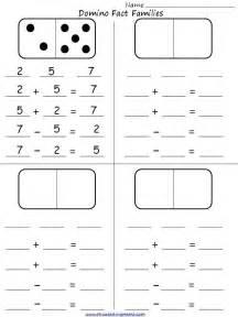 Domino Fact Family Worksheet