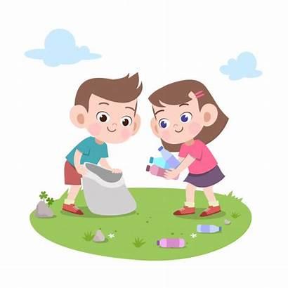 Cleaning Trash Vector Illustration Premium Chores Doing