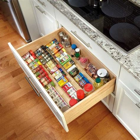 wooden drawer organizers kitchen rev a shelf wood spice drawer insert 22 quot w x 19 75 quot l 4sdi 1617