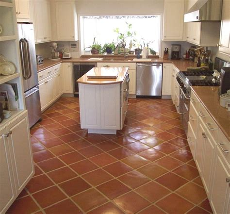 quarry tile diagonal kitchen google search terracotta