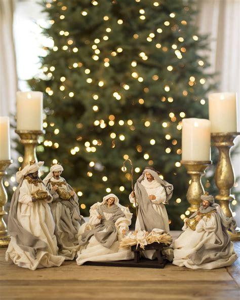 white christmas nativity set balsam hill