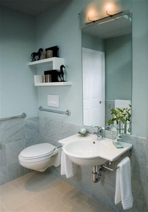 cool  calming wheelchair accessible bathroom