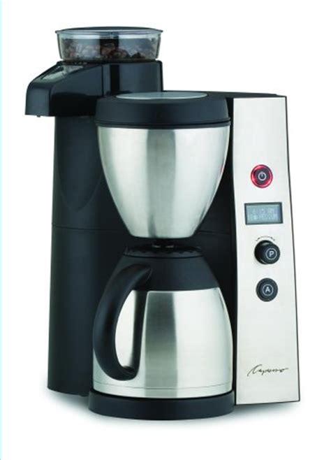 Capresso 455 CoffeeTEAM Therm Stainless Coffeemaker/Burr Grinder Combination Best Sale   heybestbuy3