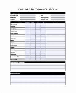 hr performance review template - 8 performance review form templates sample templates