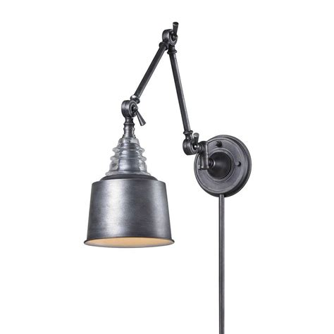 titan lighting insulator glass 1 light weathered zinc wall