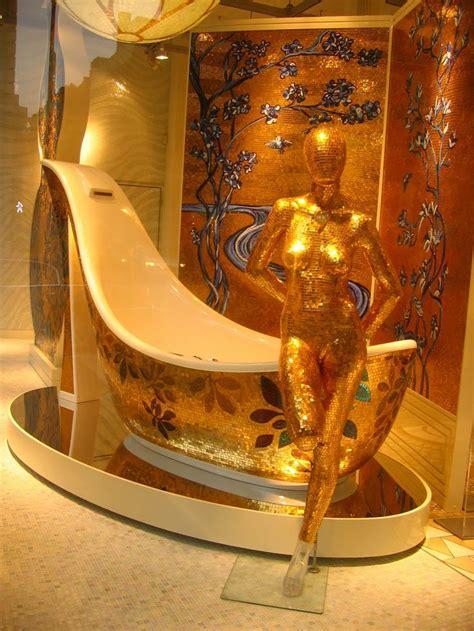 gold  blue mosaic shoe tub   italian based sicis