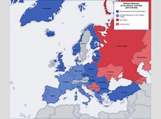 Map Of Europe During The Cold War roundtripticketme