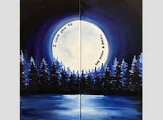 Couples Paint Night! Love You to the Moon Art Studio 27