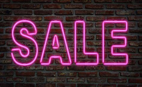 Neon sale sign. stock illustration. Illustration of ...