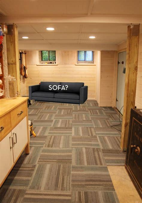 floor carpet tiles   basement basement