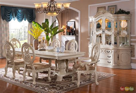 white dining room sets traditional antique white formal dining room furniture set carved wood accents