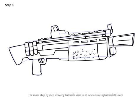 learn   draw heavy shotgun  fortnite fortnite step  step drawing tutorials
