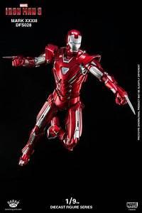 Iron Man 3 1/9 Scale Iron Man Mark XXXIII Silver Centurion ...