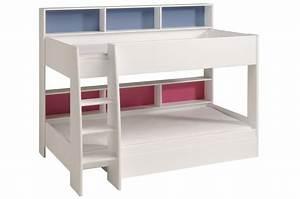 Lit Superposé Ado : lits superpos s blanc gar on ou fille pour chambre ~ Farleysfitness.com Idées de Décoration