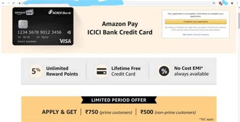 This benefit is offered under icici bank's culinary treats program. Amazon - Apply for Amazon Pay ICICI Bank Credit card and Get Rs 500/750 Cashback