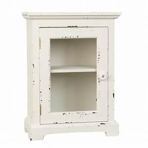 Holzschrank Weiß Streichen : clayre eef 6h0771 schrank vitrine holzschrank wei ca 30 x 15 x 40 cm ~ Markanthonyermac.com Haus und Dekorationen
