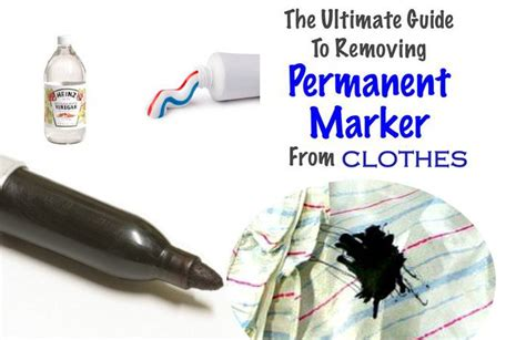 Removing Magic Marker From Cotton