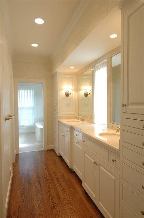 walk  closet transitional bathroom  wills