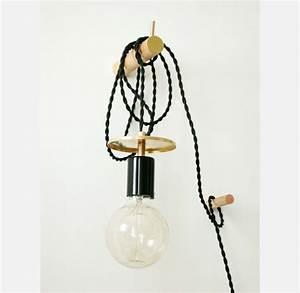 Lampe Chevet Murale : applique murale lampe pendentif noir et laiton clairage ~ Premium-room.com Idées de Décoration