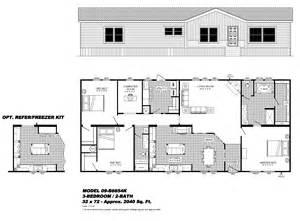 1998 fleetwood mobile home floor plans 28x60 free home design ideas images