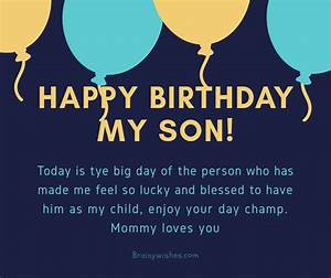 Happy Birthday Wishes For Son Funny Proud Wishes For Son