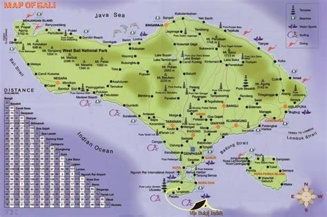 bali map complete  tourist information