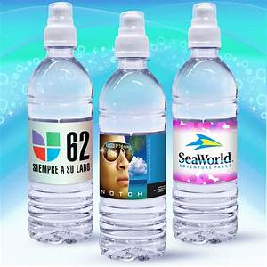 169 oz custom label spring water w sport top clear With clear water bottle labels