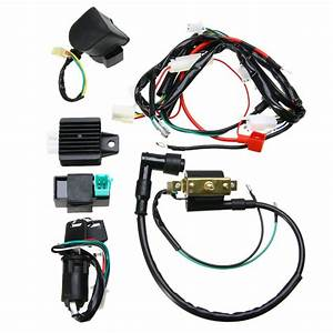 1set Motorcycle 50cc 125cc Cdi Wiring Harness Loom