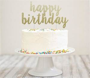 Оформление - Happy Birthday Glitter Cake Topper #2505167
