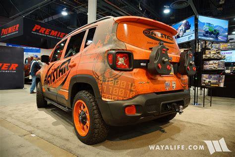 sema jeep 2016 2016 sema daystar jeep renegade