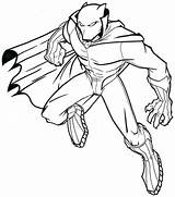 Panther Coloring Pages Printable Superhero sketch template