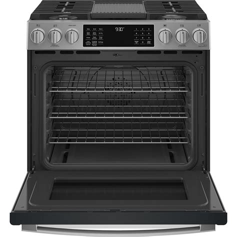 ge profile    convection gas range  wifi connect stainless steel pcgsypfs